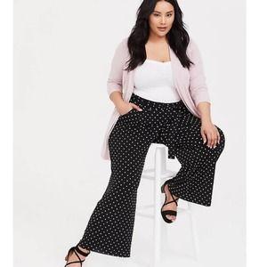 Torrid Polka Dot Studio Front Tie Wide Leg Pants 1